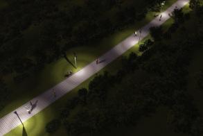 תאורת ״הצפה״ פארק - לילה