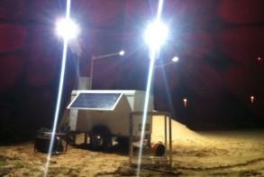 Mobile Solar Light Post - Night