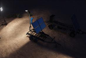 Mobile Solar Light Station - Night