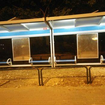 תאורה סולארית בתחנת אוטובוס - עיריית ירושלים